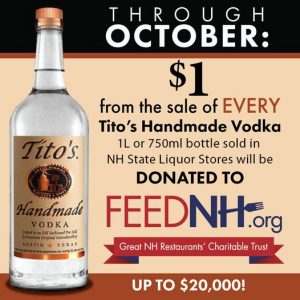Help FEED NH with Tito's Handmade Vodka