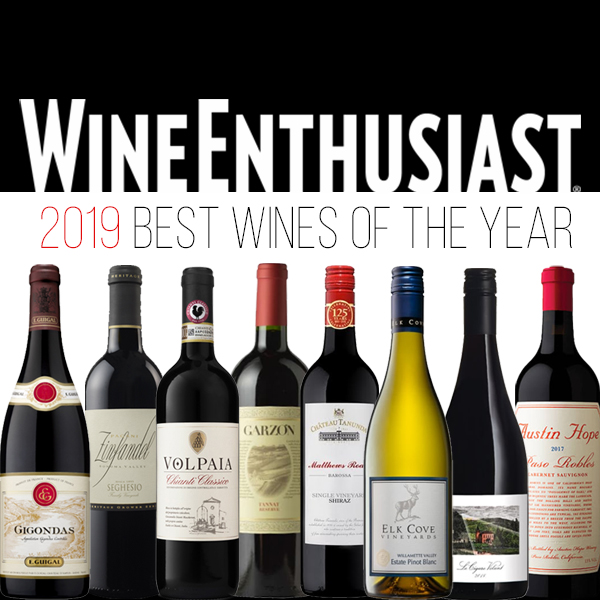 Wine Enthusiast Best Wines of the Year
