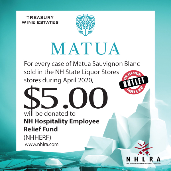 Matua $5.00 Per Case Sold In April To Go To NHLRA Relief Fund
