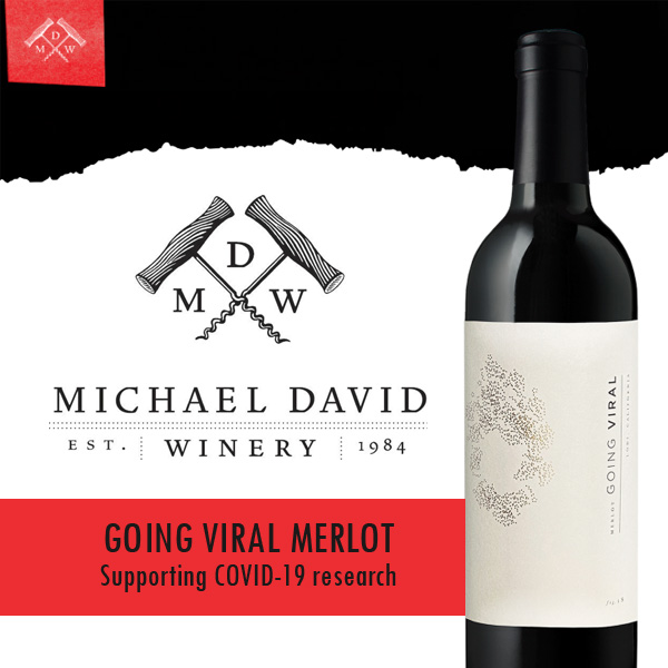 'Going Viral' Merlot – helping to fund Covid-19 research.